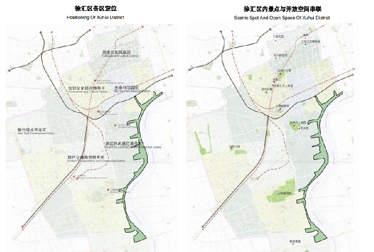 上海徐汇区滨江绿带实施方案-景点分析