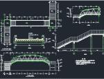 钢结构过街天桥施工图
