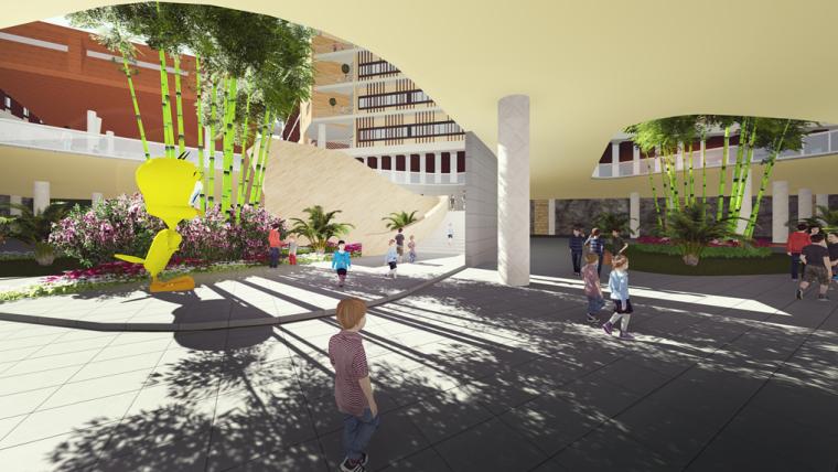 [广东]某新区学校建筑设计文本-效果图4