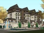 东南亚风格住宅建筑设计模型