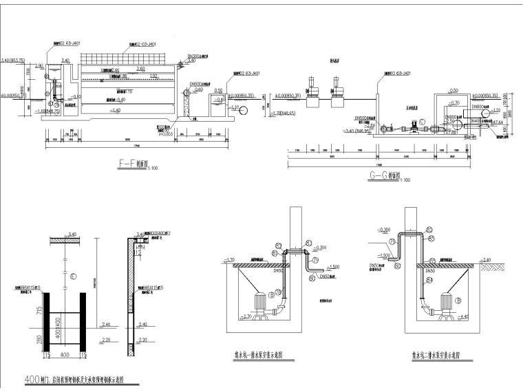 V型活性炭滤池全套施工图
