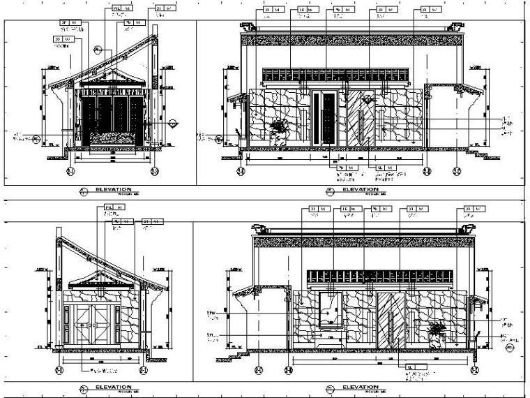 [南京]滨江中式风格会所设计施工图(含效果图)_3