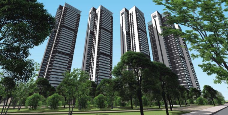 [广州]别致立面一梯一户高层住宅建筑设计方案文本(含SU、CAD)_2
