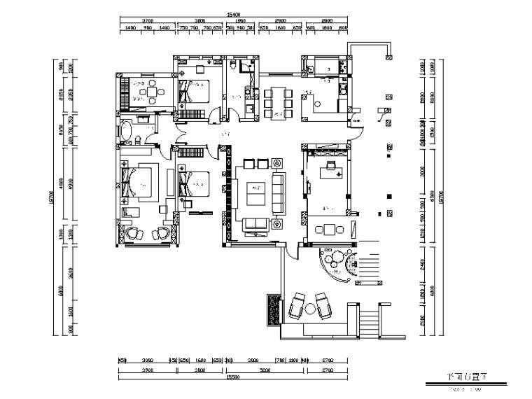 新中式风格样板间设计CAD施工图(含效果图、3D文件)