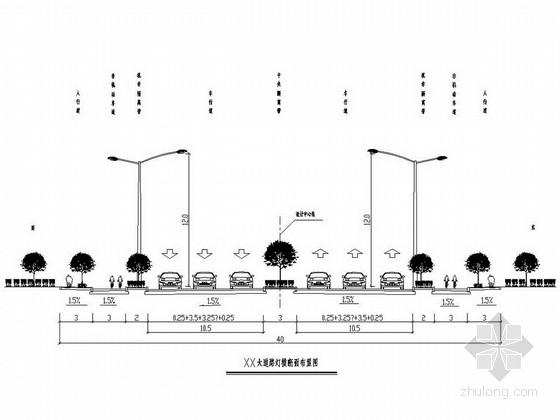 [浙江]市政道路照明工程施工图设计15张