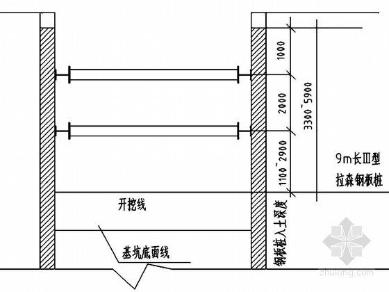 [江苏]污水管网深基坑钢板桩支护及降水开挖施工方案
