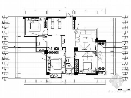 [湖北]舒适温馨三居室样板间室内装修图(含效果)