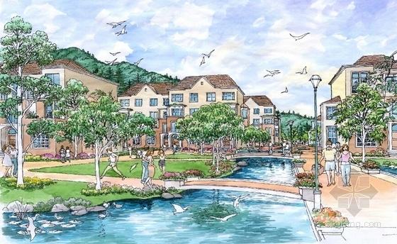 大型生态温泉度假区规划设计效果图
