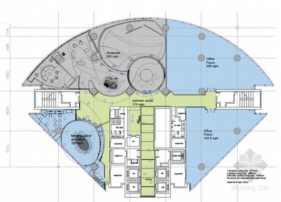 [上海]国际团队打造金融中心体验展厅施工图(含全套汇报方案)