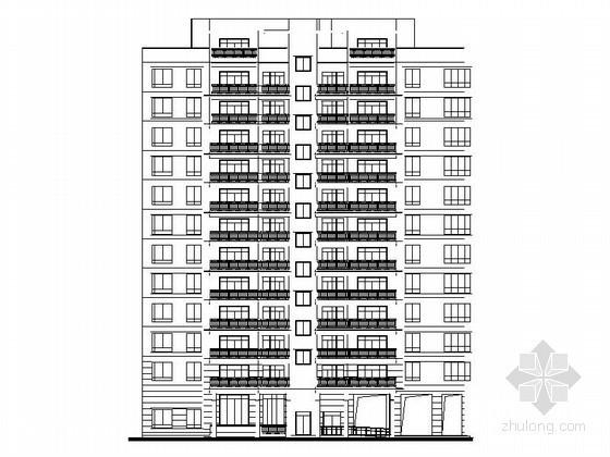 某住宅小区十二层塔式住宅楼建筑施工图