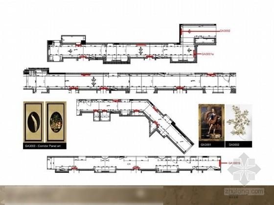 [大连]某大型复古奢华城堡酒店软装深化设计方案