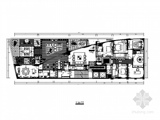 [深圳]豪华住宅中式风格四居室装修施工图(含效果图)