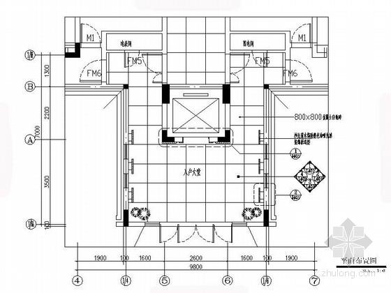 [江苏]名城高端住宅花园小区入户大堂装修施工图(含电气图)