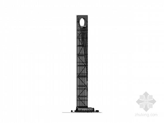 [上海]492米知名商业综合体建筑施工图