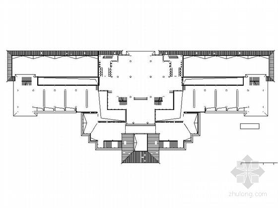 仿古3层单檐道学院平面图