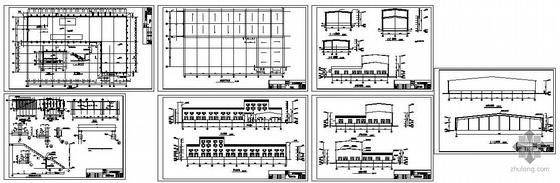 甘肃某公司车间成品库建筑结构图纸