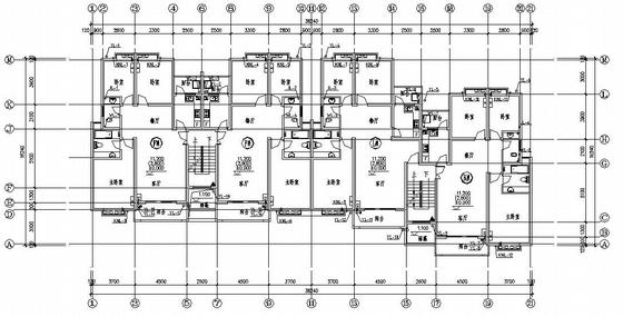 广西某六层复式住宅楼给排水设计图
