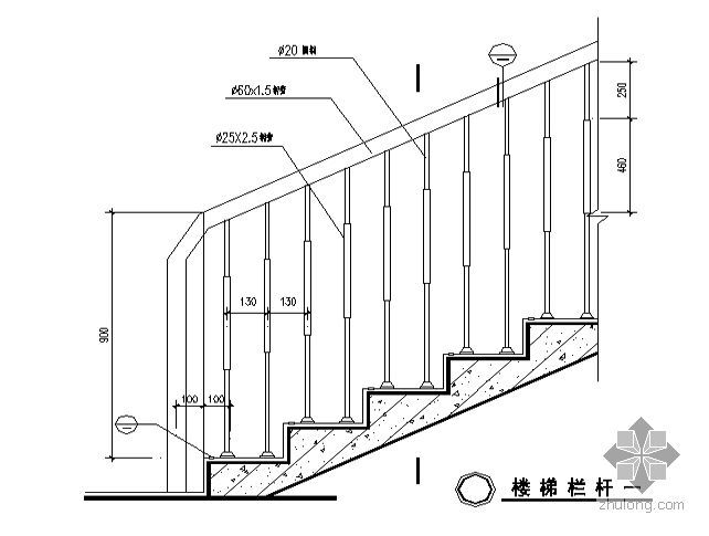 [合肥市]某十八层住宅-栏杆节点详图