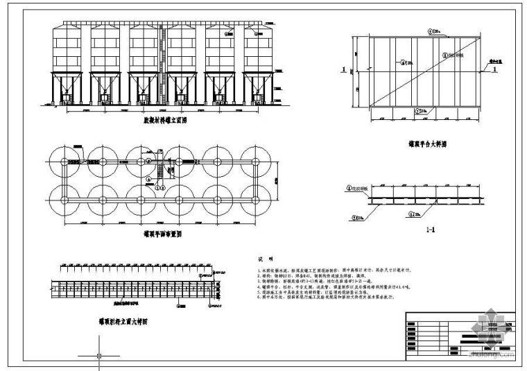 某右岸高程300m混凝土生产系统上罐楼梯结构图
