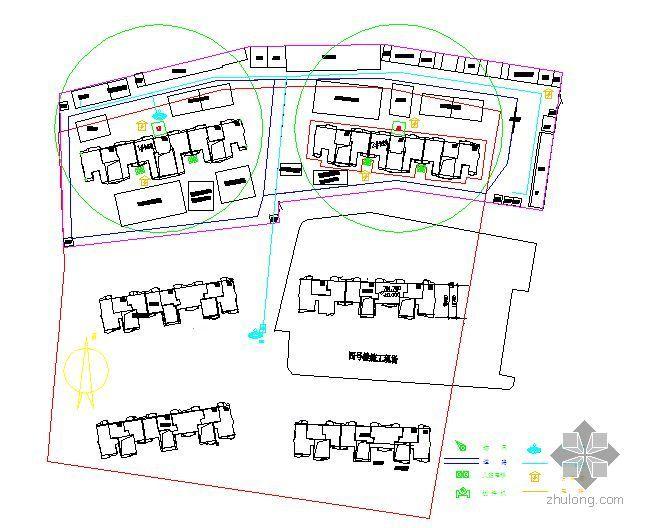 某住宅工程施工现场平面布置图