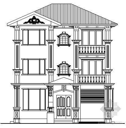 某三层小户型独立别墅建筑方案图