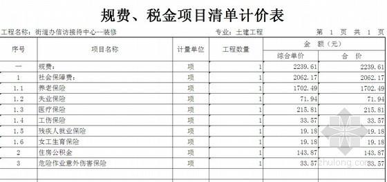 装饰改造工程清单资料下载-陕西某街道中心装饰改造工程清单报价书(2011-02)