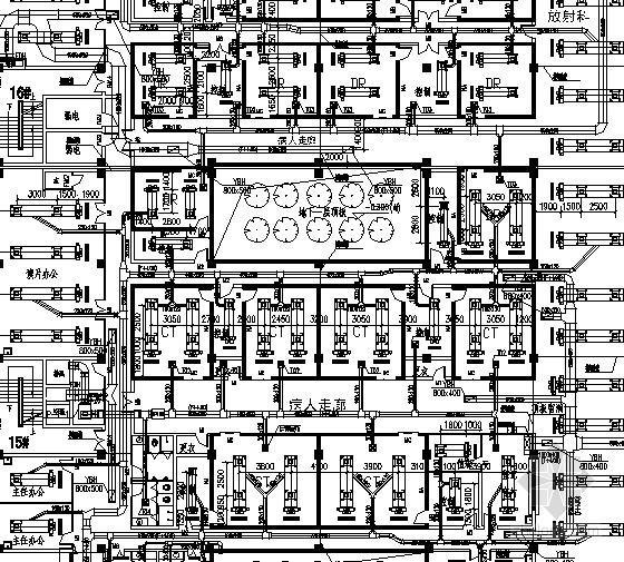 [江西]24万平大型医院暖通空调及防排烟系统设计施工图