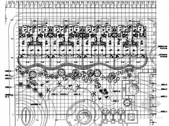 [都江堰]高档住宅小区中庭庭院植物配置施工图
