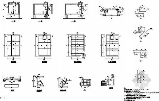 某住宅楼屋顶水池节点构造详图