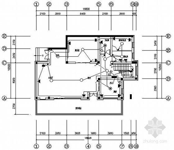 [浙江]某三层别墅强电图纸