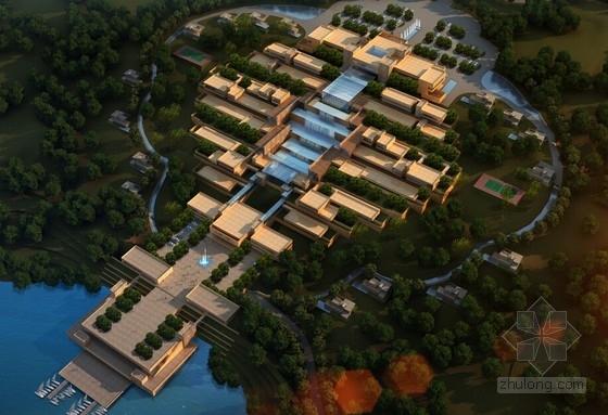 [鄂尔多斯]黄河文化主题星级山地酒店建筑设计方案文本