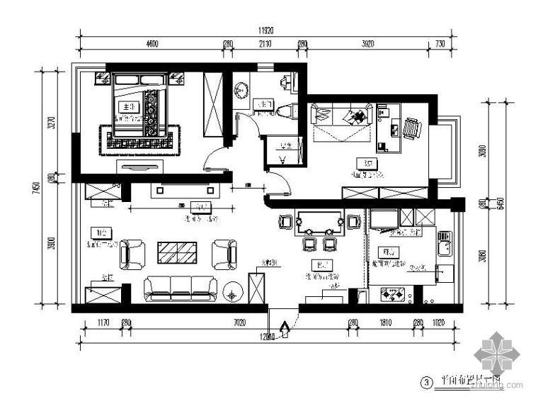 现代简约二室二厅装修图