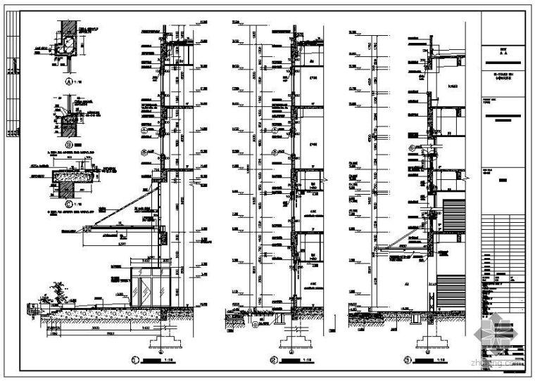 某钢结构厂房墙身大样节点构造详图
