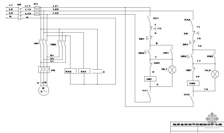 电动机相序自动调节与断相保护电路