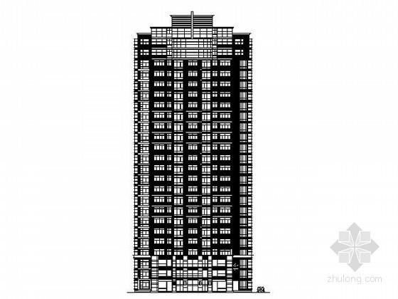 [上海]某二十四层一梯三住宅建筑方案图(12号楼)