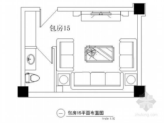 欧式娱乐会所资料下载-某欧式娱乐会所包房15装修图