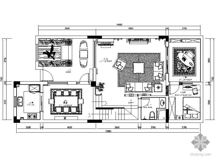 某双层连排别墅室内装修图
