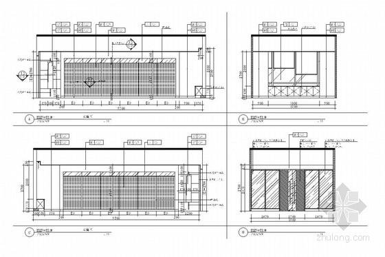 [深圳]经济贸易服务中心六、七层室内施工图-[深圳]经济贸易服务中心室内施工图 接待室立面图