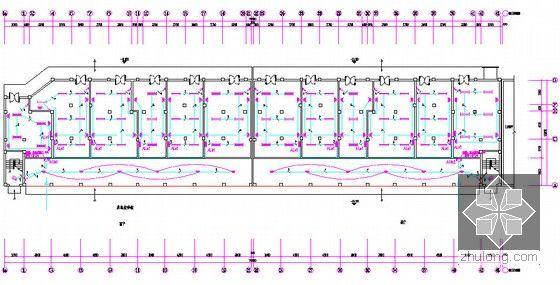 [安徽]三栋小区居民楼建设安装工程预算书(全套图纸软件文件)-首层照明平面图