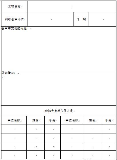 市政基础设施工程主要项目统一规定表格表式(67页)_2