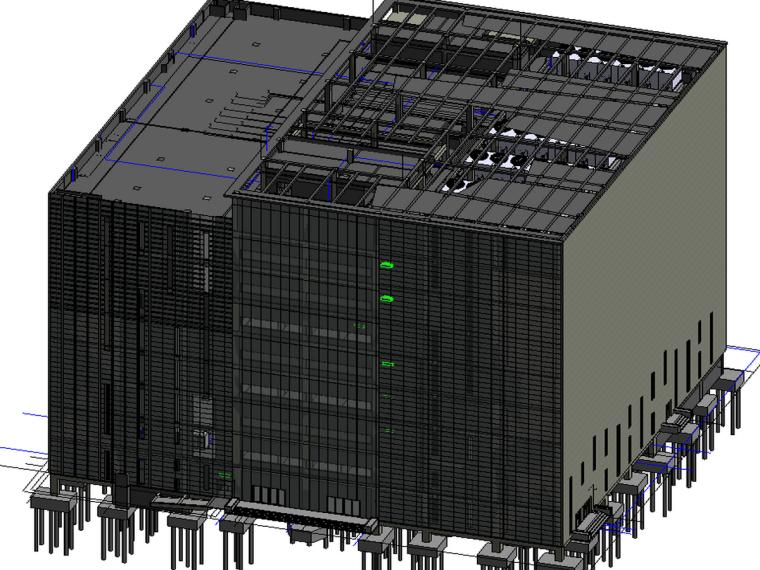 BIM模型-revit模型-互联网数据中心BIM模型