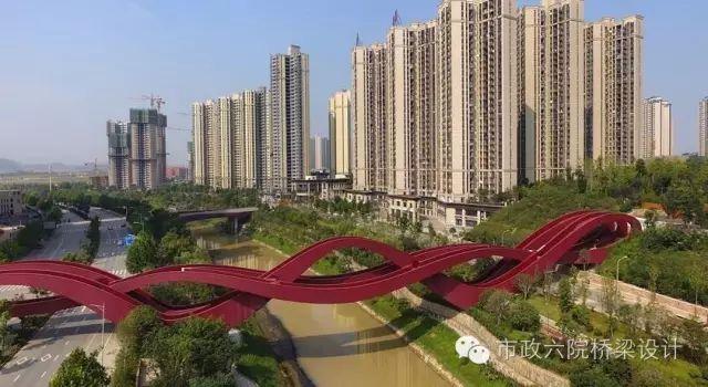 """长沙梅溪湖""""中国结""""步行桥_1"""