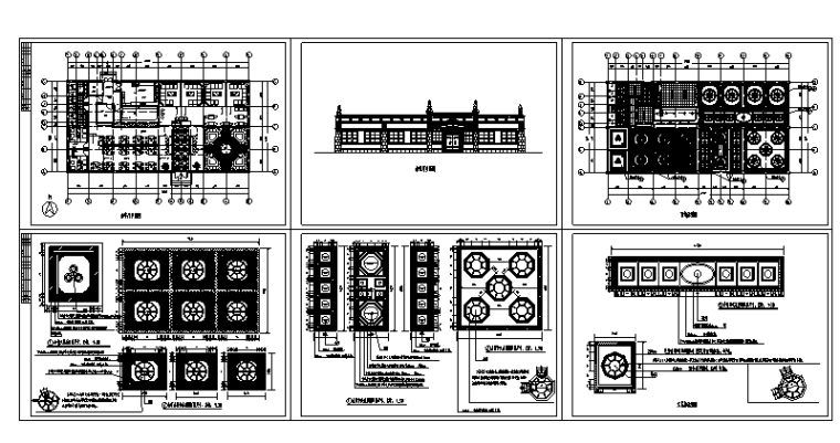 30套咖啡厅西餐厅设计方案CAD图纸_5