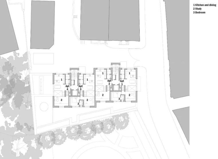 建筑师独立开发的公寓楼,真是好房子!_43