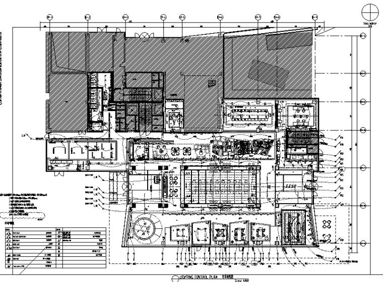 [上海]知名地产御河硅谷售楼空间设计施工图(附效果图+软装方案)-灯具连线图