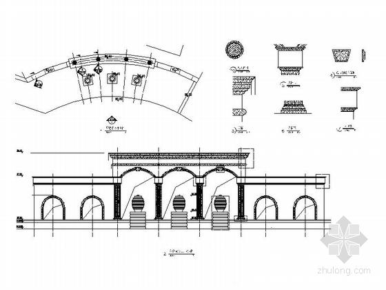特色景廊施工图