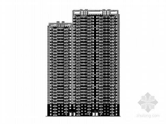 [安徽]34层现代风格住宅楼建筑施工图(2015年图纸)