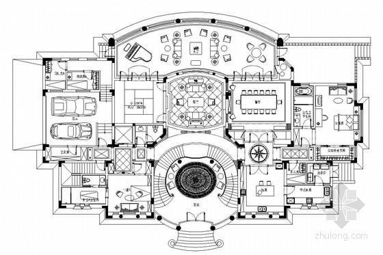 [上海]欧式风格三层别墅室内装修图(含效果图)