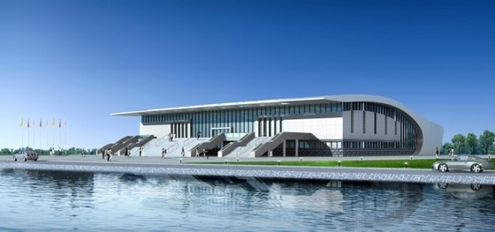 [湖北]市级体育场项目设计方案文本(知名设计院)-市级体育场项目设计方案效果图