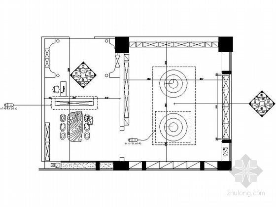 中式风格瓷器店室内装修施工图(含效果图)